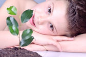 Ecologist child 2 — Stock Photo