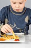 Child dinner5 — Stock Photo