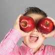The child of apples 18 — Stock Photo