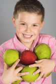 The child of apples 2 — Stock Photo