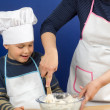 Mother and son making a pizza 3 — Stock Photo