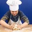 Kneading dough boy 2 — Stock Photo