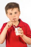 ヨーグルト 10 の子 — ストック写真