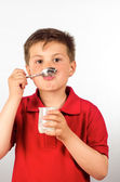 The child of yogurt 12 — Stock Photo