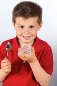 The child of yogurt 18 — Stock Photo