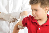 Dad I have a fear of needles — Stock Photo