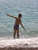 Child having fun on the beach 13 — Stock Photo