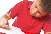 Child studying — Stock Photo