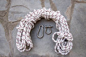 Rope and clamps — Stock Photo