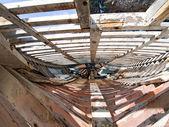 Repairing a boat — Stok fotoğraf