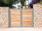 Wooden gate — Stock Photo