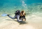 аквалангист — Стоковое фото