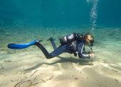 Female Diver — Stock Photo