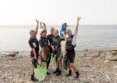 Scuba Divers — Stock Photo