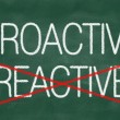 Stock Photo: Proactive and Reactive handwritten