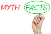 Myth and facts — Stock Photo