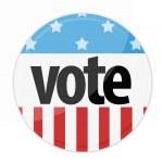 United States Election Vote Button — Stock Photo #31447443