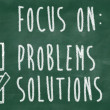 Stock Photo: Focus on solutions concept