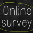 Online survey on a blackboard — Stock Photo