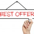 Best offer written on whiteboard — Stock Photo