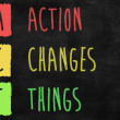 Action changes things — Stock Photo