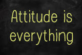 Attitude is everything positive concept — Stock Photo