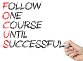 Focus - Follow One Course Until Successful — Stock Photo