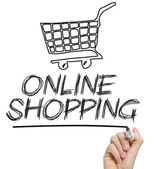 Online shopping cart concept — Stock Photo