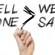 Well done is better than well said — Stock Photo #31613801