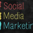Stock Photo: Social media marketing concept