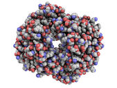 Human hemoglobin (Hb) protein molecule, chemical structure. — Stock Photo