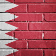 Bahrain flag on brick wall — Stock Photo