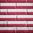 Liberia flag on brick wall — Stock Photo