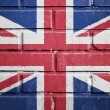 United kingdom flag on brick wall — Stock Photo