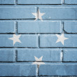 Stock Photo: Federated States of Micronesiflag on brick wall