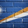 Marshall islands flag on brick wall — Foto Stock