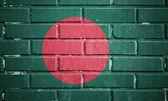 Bangladesh flag on brick wall — Stock Photo