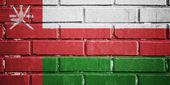 Oman flag on brick wall — Stock Photo