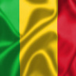 Mali flag blowing in the wind — Stock Photo #34252503