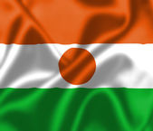Niger flag blowing in the wind — Stock Photo
