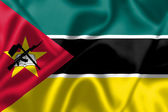 Mozambique flag blowing in the wind — Photo