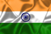 India flag blowing in the wind — Stock Photo