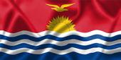 Kiribati flag blowing in the wind — Stock Photo