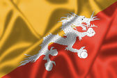 Bhutan flag blowing in the wind — Photo