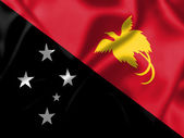 Papua New Guineaflag blowing in the wind — Stock Photo