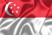 Singapore flag blowing in the wind — Foto de Stock
