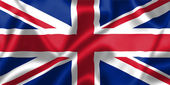 United Kingdom flag blowing in the wind — Stock Photo