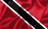 Trinidad and Tobago flag blowing in the wind — Stock Photo