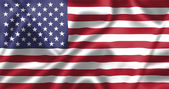 United states flag blowing in the wind — Stock Photo