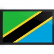 Tanzania flag on smartphone screen isolated — Stock Photo